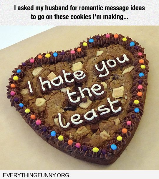 funny caption romantic valentines message i hate you the least