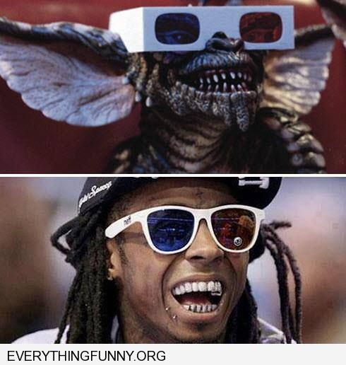 funny rapper looks like gremlin with white glasses