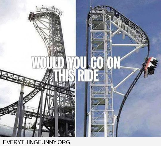 funny crazy roller coaster would you go on this ride nope