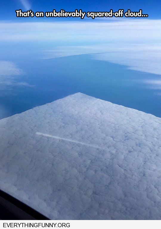 funny picture perfect square cloud