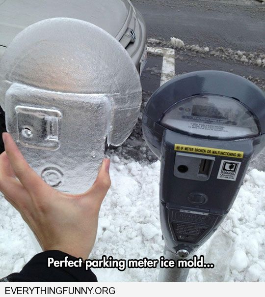 funny perfect parking meter ice mold