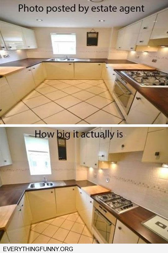 funny caption difference between realtor photo vs reality