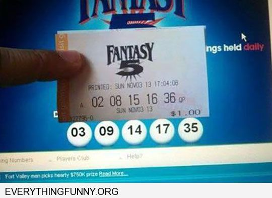 funny caption lottery ticket missed every number by one number