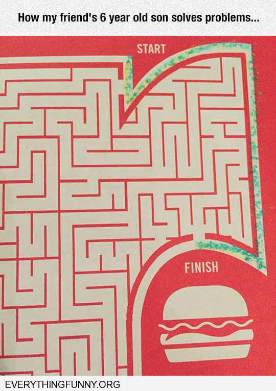 funny caption funny 6 year old finds awesome short cut in maze game