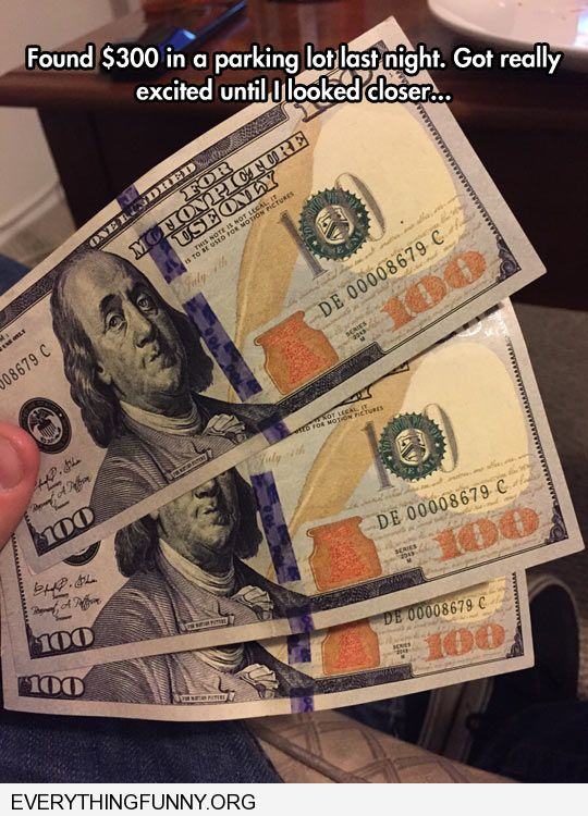 funny found $3000 found out is was movie money