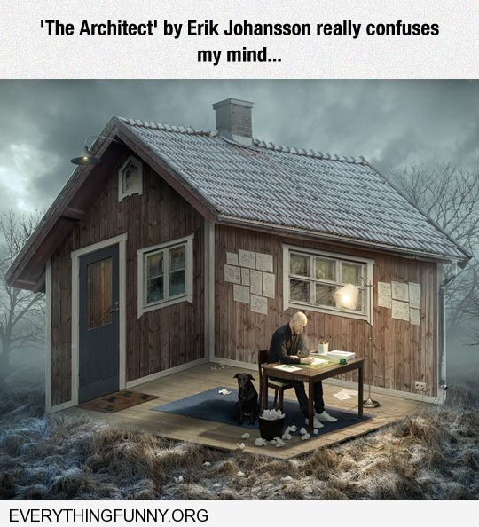 funny the architect by erik johansson really confuses my mind
