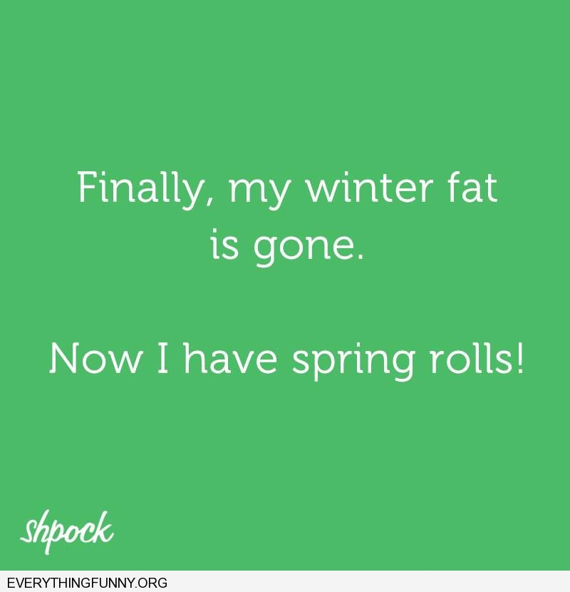 funny quotes finally my winter fat is gone now i have spring rolls