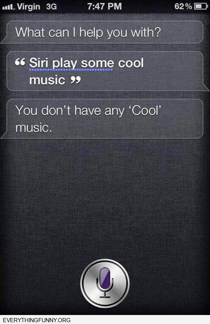 funny suri answers play some oool music you don't have any cool music