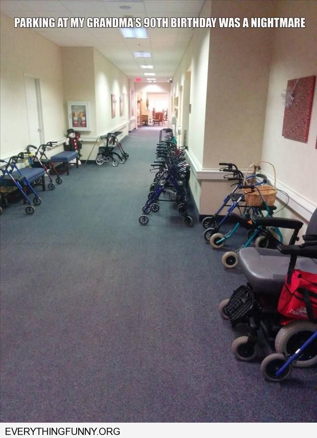 funny parking at my grandmothers retirement home is a nightmare hallway filled with walkers