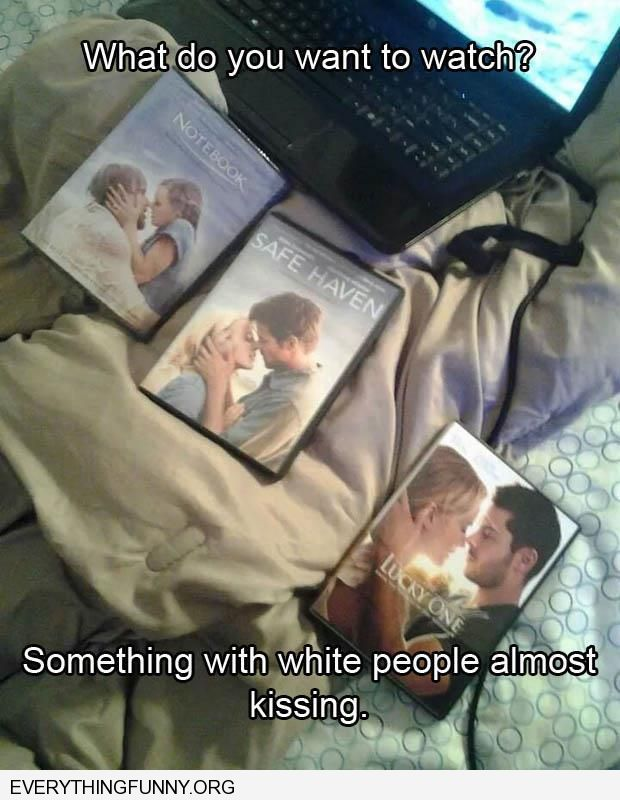 funny captions movie romance something white people almost kissing on all dvds