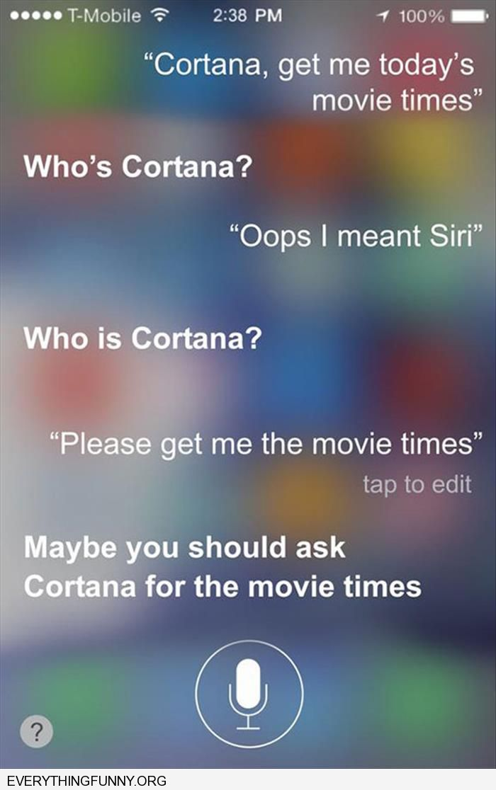 funny siri takes offense when called cortana by accident
