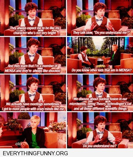 funny caption luke from modern family in funny ellen degeneres interview