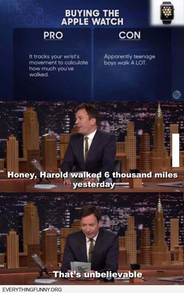 funny jimmy fallon apple watch teenager masturbating parents think he walked 6 thousand miles today