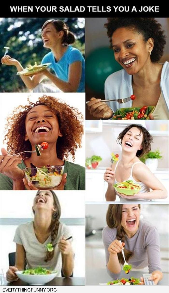 funny caption salad ads oh salad you are so funny!