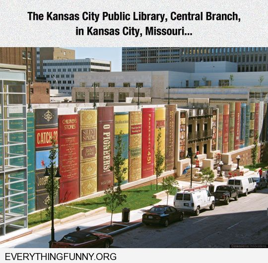 funny picture awesome Knsas library looks like books