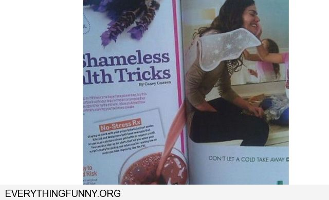 funny bad ad placement women looks like she has diarrhea