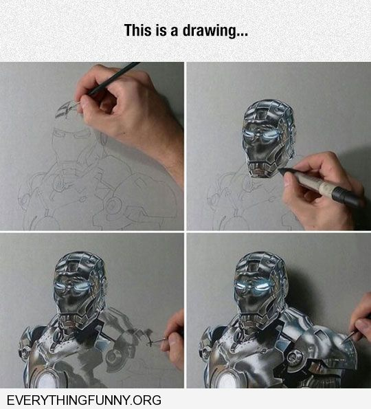 funny caption awesome artist makes picture look 3d 3rd dimensional