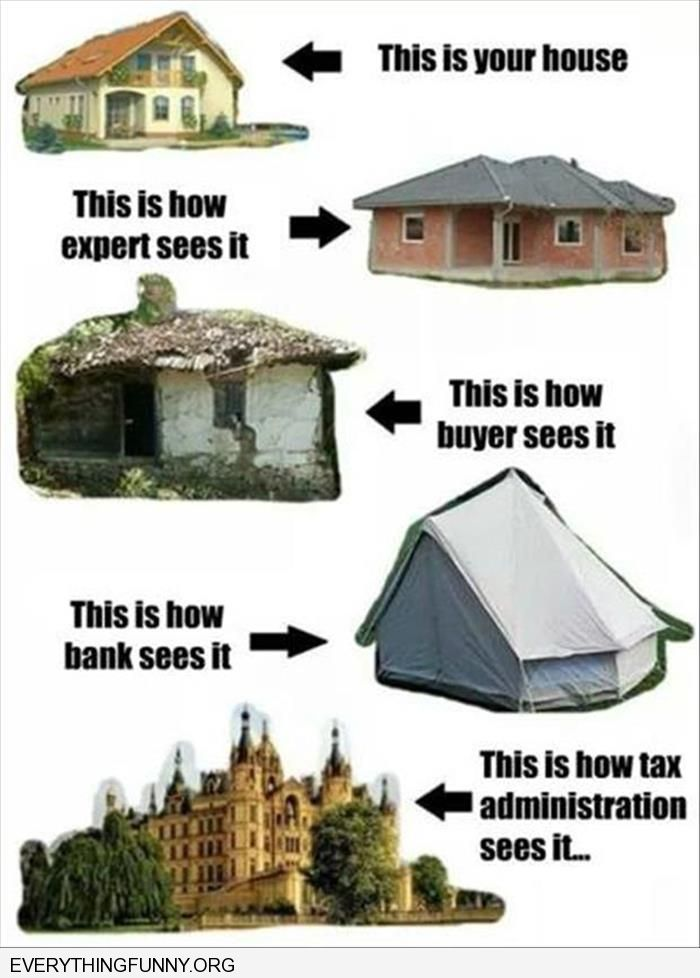 funny captions how different people view your house