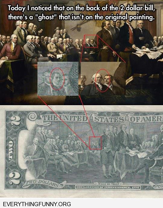 funny ghost president $2 bill not in original picture