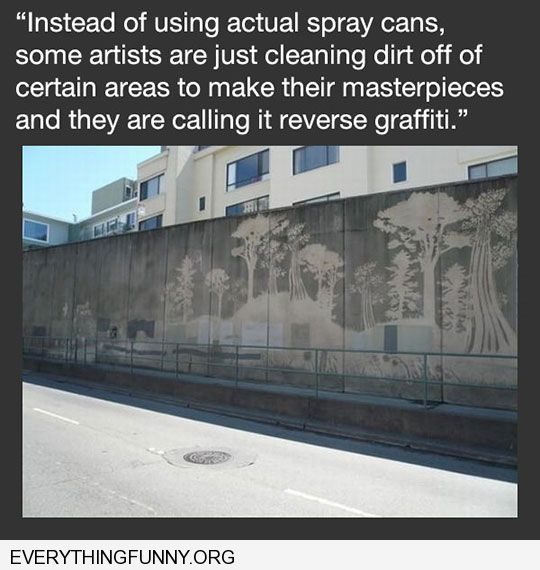funny captions cleaning walls reverse graffiti