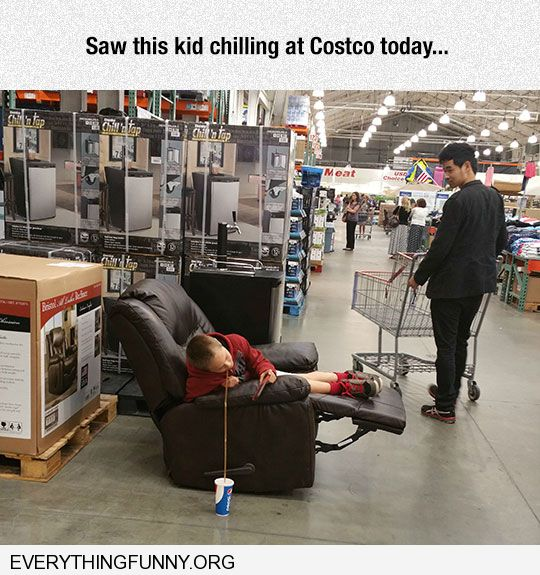 funny capiton found this kid chillng at cosco