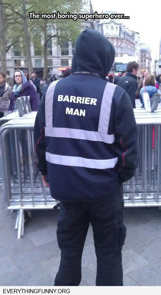 funny caption barrier man the most boring super hero ever