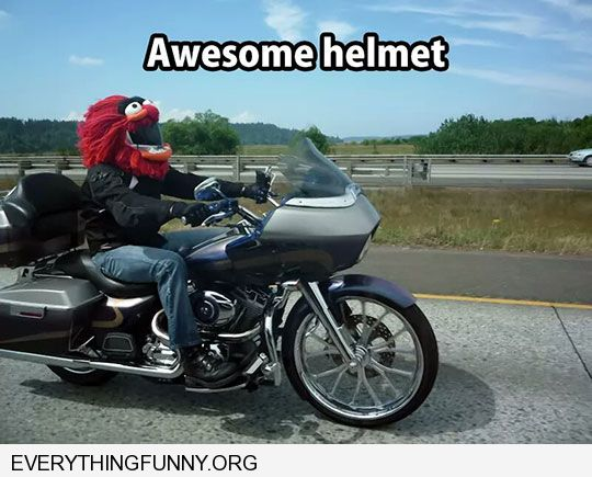 funny awesome elmo motorcycle helmet