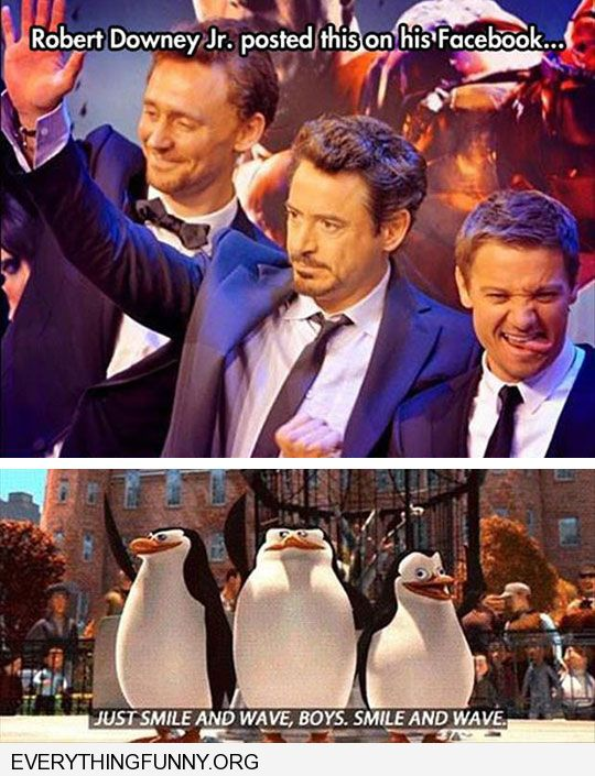 funny robert downey jr posted this just smile and wave boys