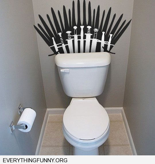 funny caption game of thrones toilet diy