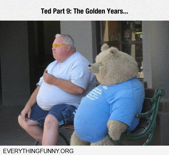 funny caption ted part 9 the golden years