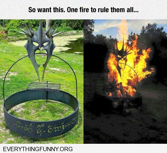funny awesome devil head fire pit backyard outside
