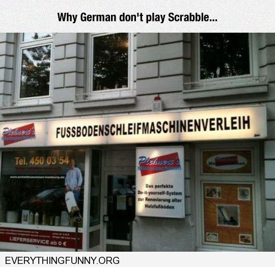 funny caption why Germany doesn't play scrabble