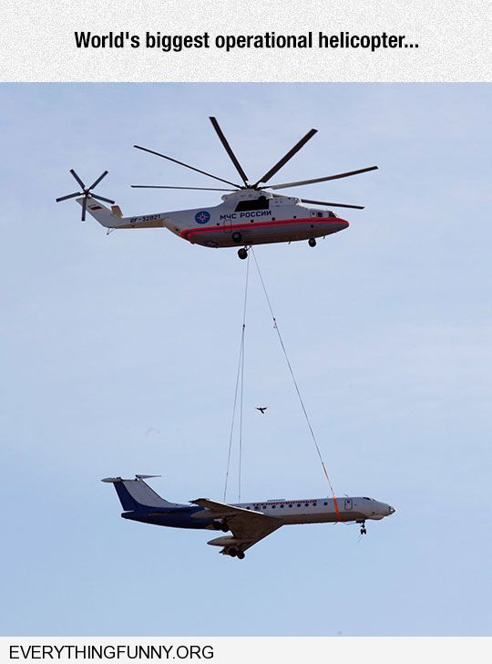 biggest operational helicopter can carry a full airplane