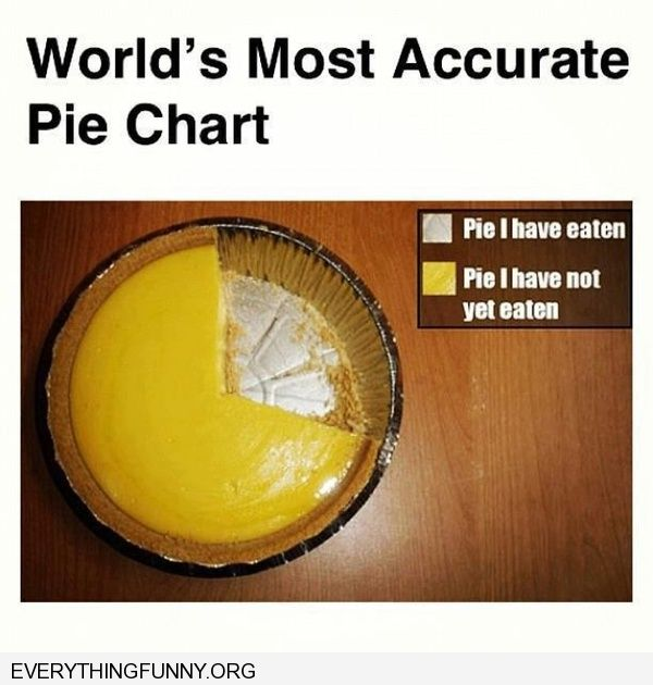 funny caption worlds most accurte pie chart pie i have eaten pie i haven't eater