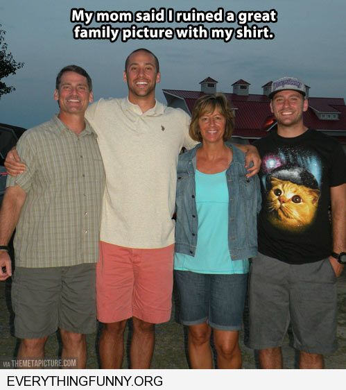 funny captions mom said i ruined great family pci with my cat shirt