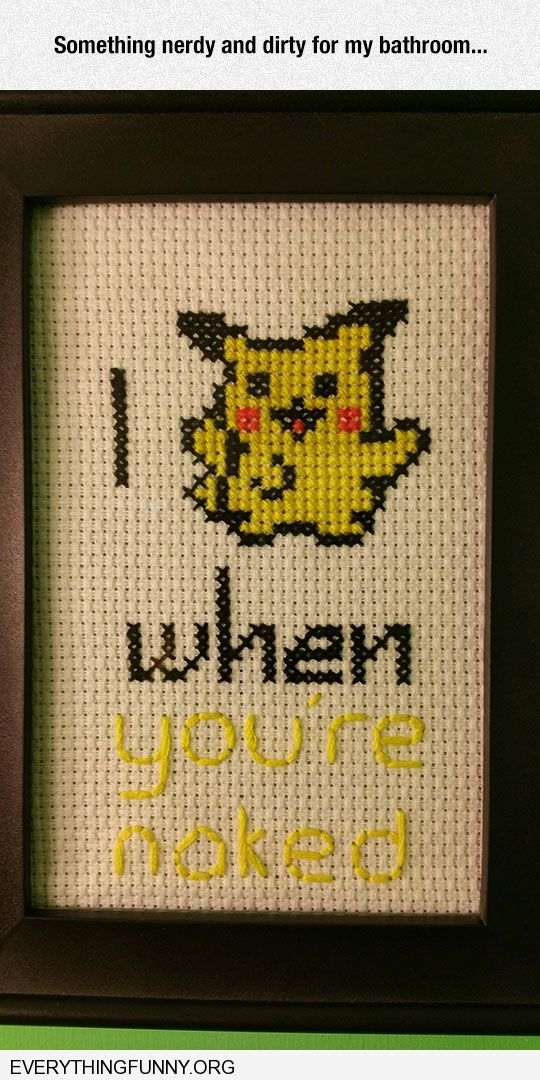 funny caption i picachu when you're naked