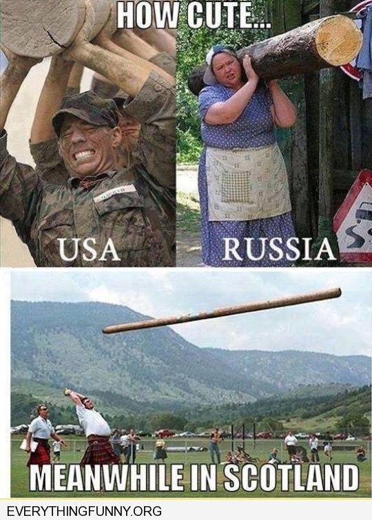 funy marines carry log russian woman carries log alone scotland throws logs