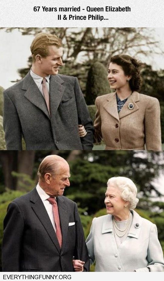 funny caption great picure of queen elizabeth and prince phillip 67 years married