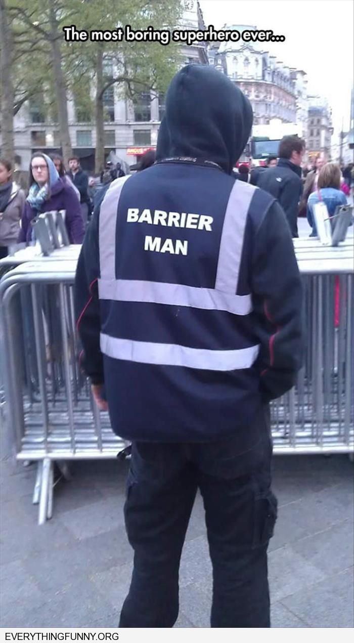 funny barrier man most boring super hero ever
