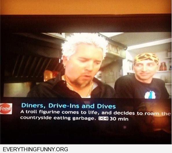 funny decription of diners drive-ins and dives