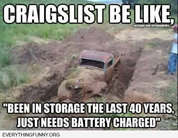 funny truck buried in mud craigslist be like in storage last 40 years needs battery