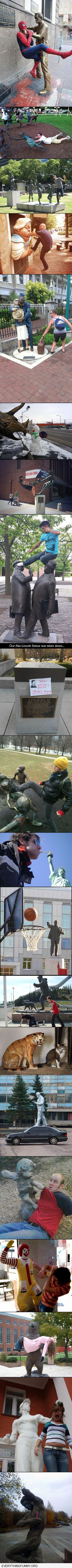 funny captions fun with statues