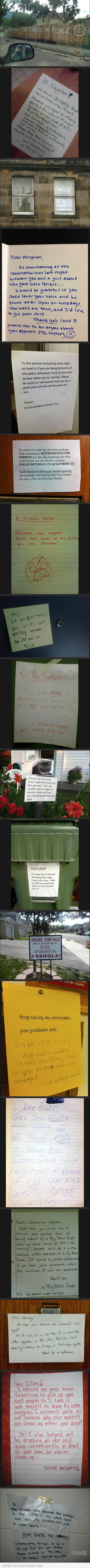 funny notes, funny messages, funny letters, humorous notes,