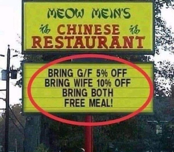 funny Chinese restaurant billboard,