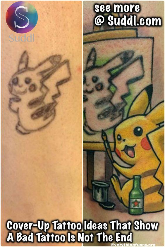 Clever Tattoo Fail Cover Up Everything Funny