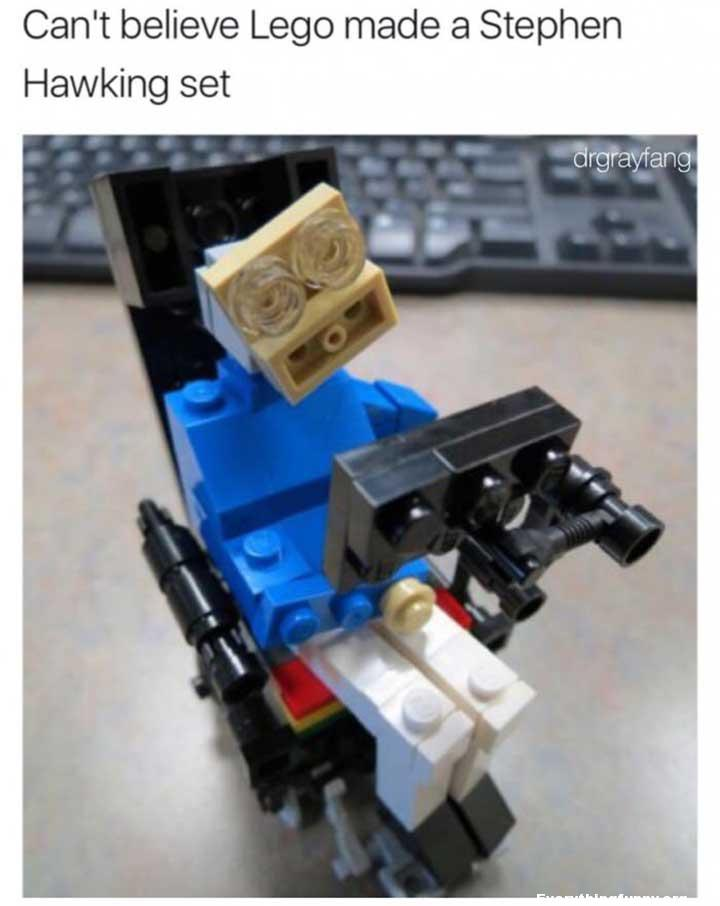 funny inappropriate photo can't believe lego made a stephen hawking set