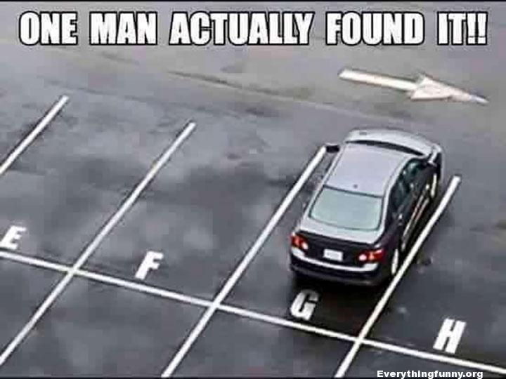 funny caption one man actually found it the G spot car parked in g spot
