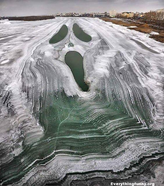 awesome lake in russia looks like scream painting scary movie