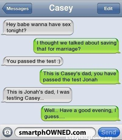 funny text message each dad tried to trick their kids about when they were having sex ended up texting each other