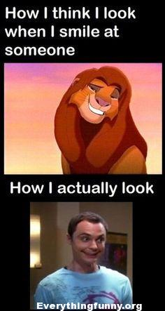 funny cartoon, funny lion king, funny how i think i look when i smile at someone how i actually look funny cpaiton, funny meme, everythingfunnyorg,